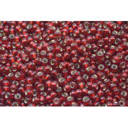 Miçanga Preciosa Vermelho Transparente 9/0 (95078)