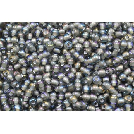 Miçanga Preciosa Cinza Aurora Boreal 5/0 (41010)