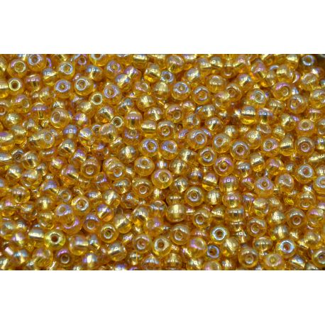 Miçanga Preciosa Ouro Transparente 5/0 (17020)