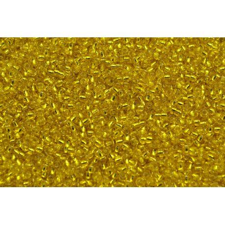 Miçanga Preciosa Amarelo Transparente 9/0 (87010)