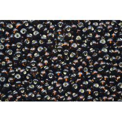 Miçanga Preciosa Marrom Escuro Transparente 9/0 (17140)