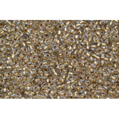 Miçanga Preciosa Transparente Dourado 5/0 (59135)