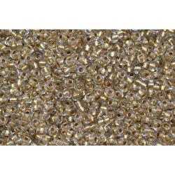Miçanga Preciosa Transparente Dourado 9/0 (59135)