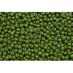 Miçanga Preciosa Verde Escuro Mesclado 9/0 (69130)