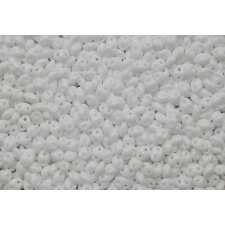 Miçanga Preciosa Twin Branco Fosco 2,5x5mm (03050)