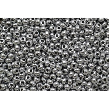 Miçanga Preciosa Prata Fosco Perolado 5/0 (01700)