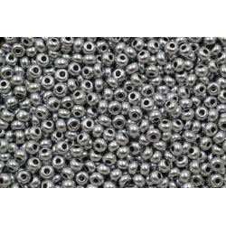 Miçanga Preciosa Prata Fosco Perolado 9/0 (01700)