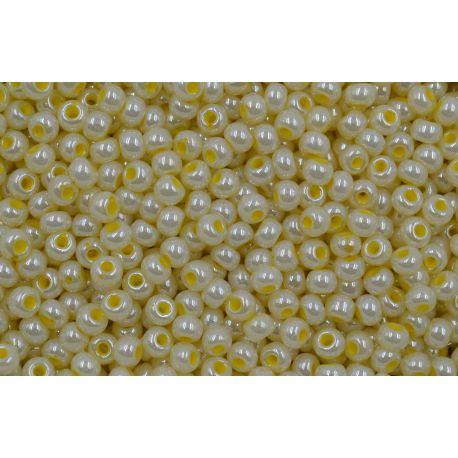 Miçanga Preciosa Amarelo Perolado 9/0 (37386))
