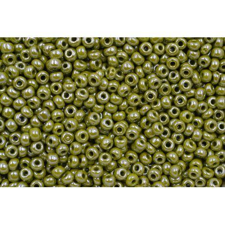 Miçanga Preciosa Verde Musgo Perolado 9/0 (83113)