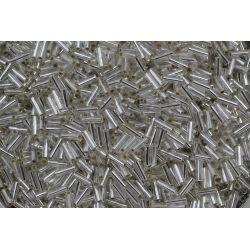 Canutilho Preciosa Prata Transparente 3Pol 7mm (78102)