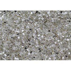 Vidrilho Preciosa Triangular Prata Transparente 2,5x2,5 (78102)