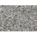 Vidrilho Preciosa Triangulo Prata Transparente 2,5x2,5 (78102)