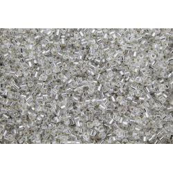 Vidrilho Preciosa Prata Transparente 2x9/0 (78102)