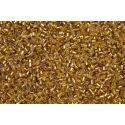Vidrilho Preciosa Dourado Transparente 2x9/0 (17050)