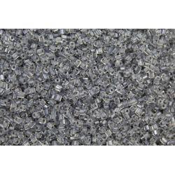 Vidrilho Preciosa Cristal e Cinza Transparente 2x9/0 (38642)
