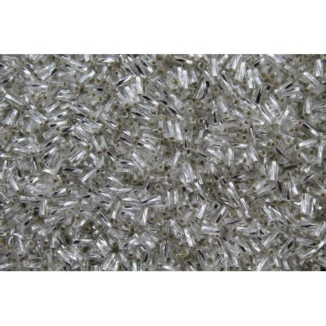 Canutilho Preciosa Torcido Prata Transparente 2Pol (78102)