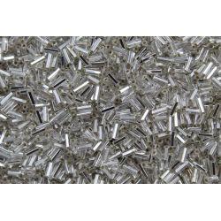 Canutilho Preciosa Prata Transparente 2 Polegadas (78102)