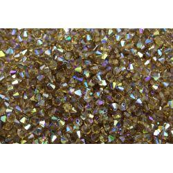 Preciosa Balão Cristal Marrom Aurora Boreal 4mm (10220)