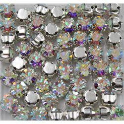 Strass Preciosa Mc Chaton in Setting SS16 Crystal Aurora Boreal