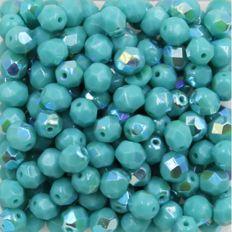 Cristal Preciosa Ornela Turquesa Opaco Aurora Boreal (63130/28701) 4mm