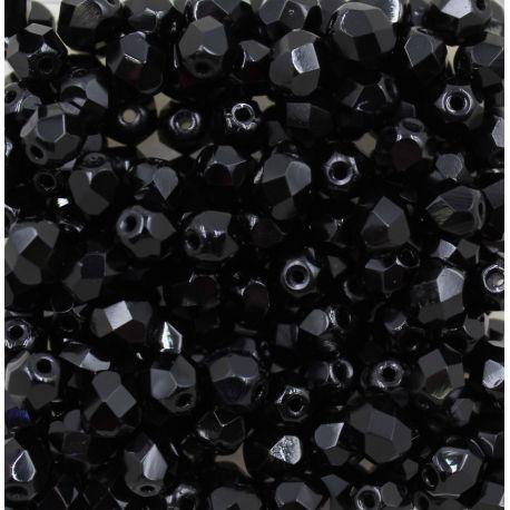 Cristal Preciosa Ornela Preto Fosco (23980) 4mm