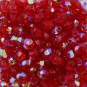 Cristal Preciosa Ornela Vermelho Transparente Aurora Boreal (90080/28701) 4mm