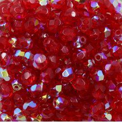 Cristal Preciosa Ornela Vermelho Transparente Aurora Boreal (90080/28701) 6mm
