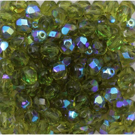 Cristal Preciosa Ornela Verde Oliva Transparente Aurora Boreal (50230/28701) 16mm