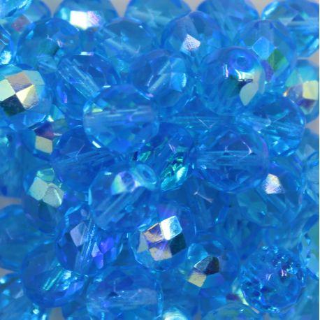 Cristal Preciosa Ornela Azul Aguá Transparente Aurora Boreal (60010/28701) 10mm