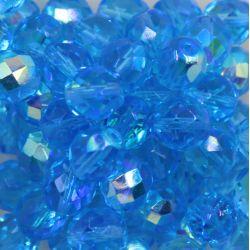 Cristal Preciosa Ornela Azul Agua Transparente Aurora Boreal (60010/28701) 12mm