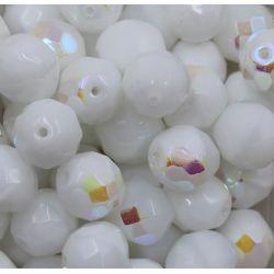 Cristal Preciosa Ornela Branco Opaco Aurora Boreal ( 03000) 12mm
