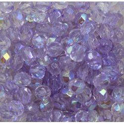Cristal Preciosa Ornela Lilás Transparente Aurora Boreal (4C505/28701) 6mm
