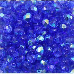 Cristal Preciosa Ornela Dark Sapphire Transparente Aurora Boreal (30050/28701)6mm