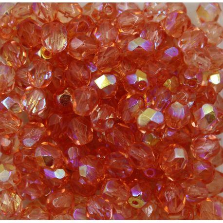 Cristal Preciosa Ornela Salmão Transparente Aurora Boreal (70120/28701) 6mm