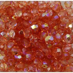 Cristal Preciosa Ornela Salmão Transparente Aurora Boreal (70120/28701) 14mm