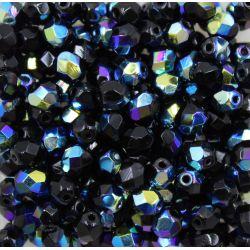 Cristal Preciosa Ornela Preto Aurora Boreal (23980/28701) 6mm