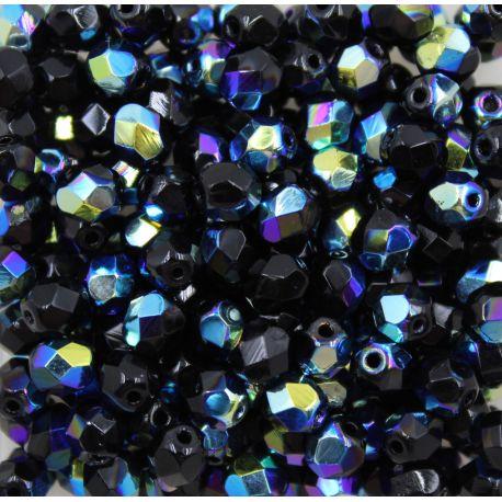 Cristal Preciosa Ornela Preto Aurora Boreal (23980/28701) 8mm