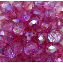 Cristal Preciosa Ornela Pink Transparente Aurora Boreal (4C412) 14mm